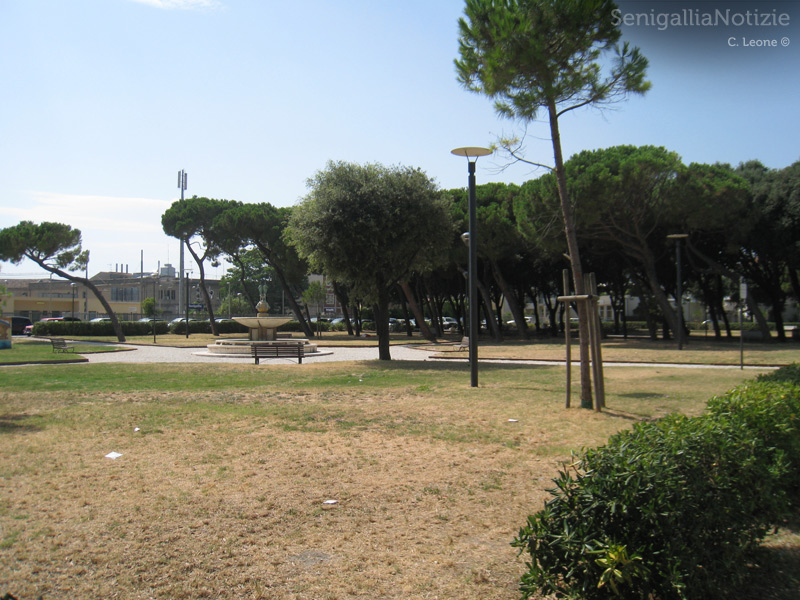 Giardini Morandi a Senigallia, dietro la stazione Fs