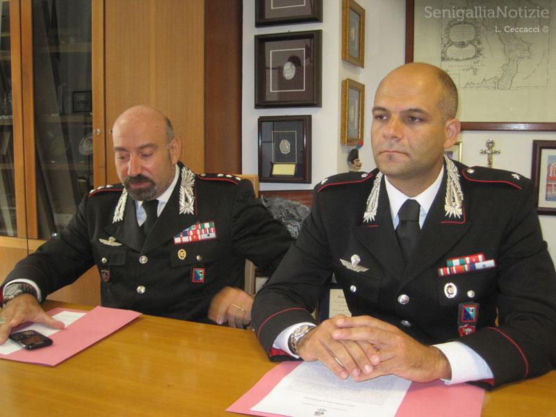 Il Capitano Lorenzo Marinaccio e il Sottotenente Antonio De Santis