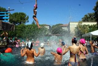 Giochi Senza Barriere 2013: una fase di gioco in acqua