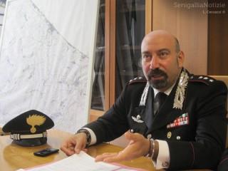 Il comandante dei Carabinieri di Senigallia, Lorenzo Marinaccio