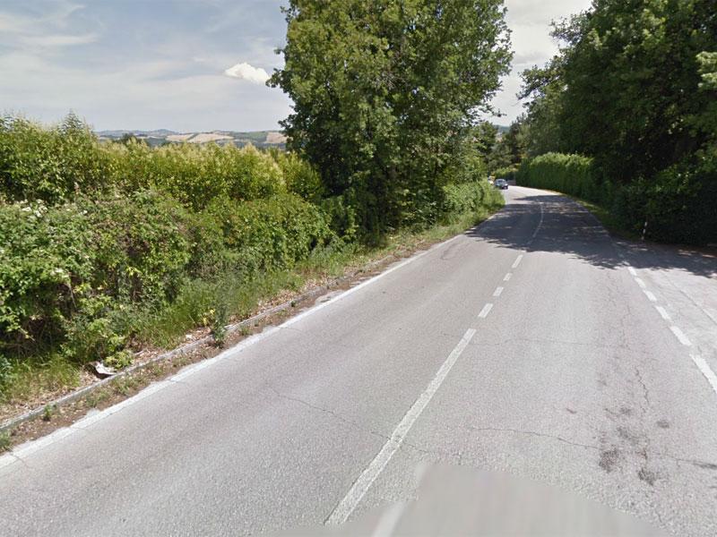 Un tratto di via San Marcello, Jesi
