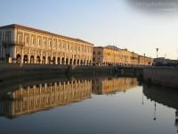 Il fiume Misa in centro a Senigallia