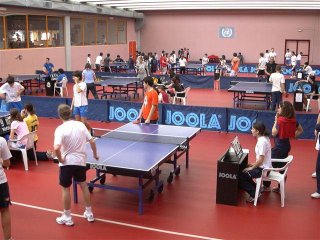 Il Centro Olimpico Tennistavolo di Senigallia affollato