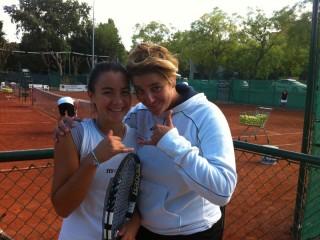 Francesca Giuliani con la maestra Claudia Oliva