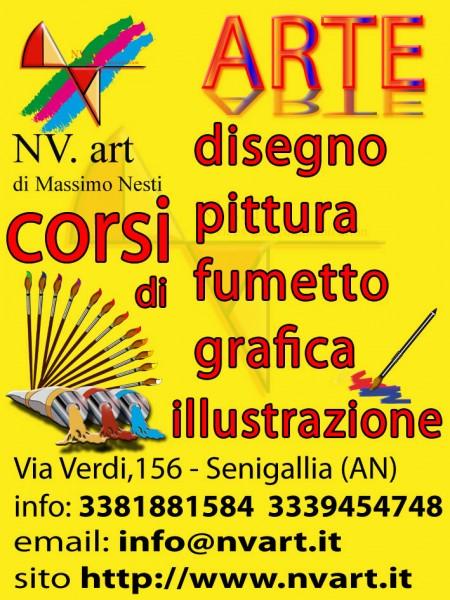 Corsi di disegno, pittura, fumetto, grafica, illustrazione da NV.art