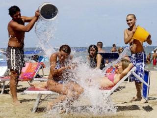 Gavettone in spiaggia