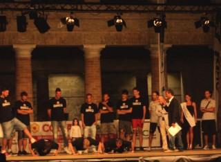 Notte dello Sport 2013: le flessioni della Pallacanestro Senigallia