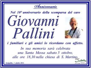 Decimo anniversario della scomparsa di Giovanni Pallini