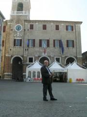 Alberto Bevilacqua a Senigallia nel 2004