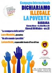 Internazionale Banning Poverty: Dichiariamo Illegale la povertà