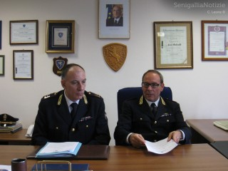 Estate 2013, report della Polizia Stradale: a sx Paolo Molinelli,a dx Maurizio Massoni