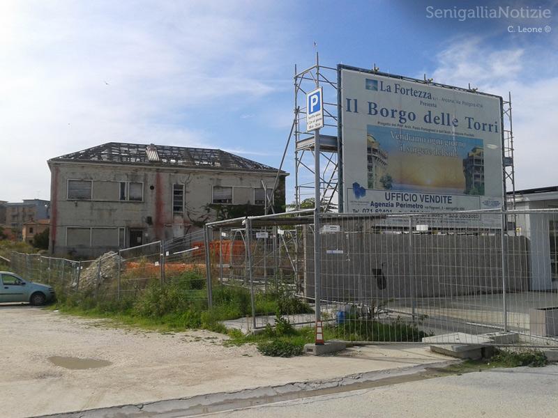 L'area del cantiere ex-Sacelit, a Senigallia