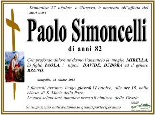 Paolo Simoncelli, necrologio