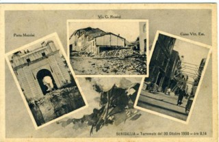Cartoline da Senigallia dopo il terremoto del 1930
