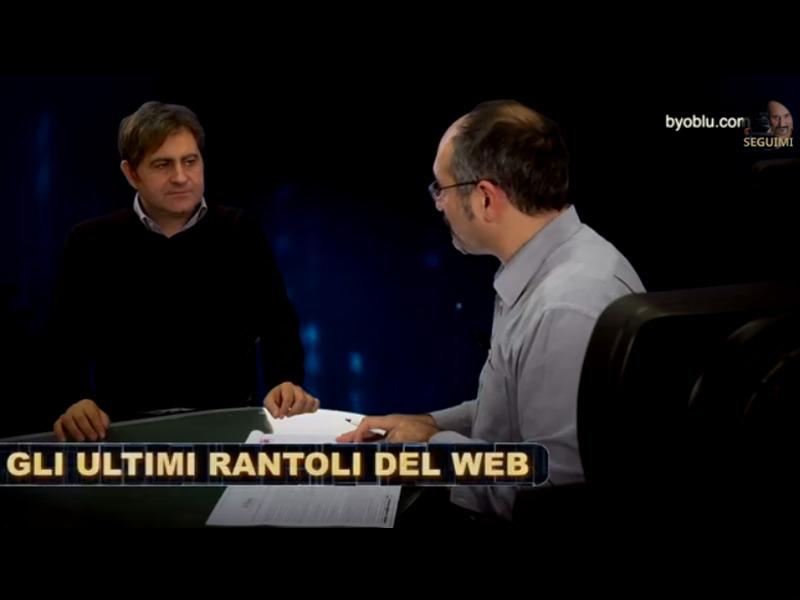 Byoblu, dibattito sulla censura del web grazie alla delibera Agcom. Da sx: Fulvio Sarzana e Claudio Messora
