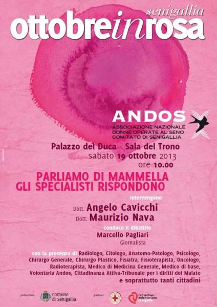 """Locandina dell'iniziativa """"Ottobre in rosa"""" a Senigallia"""