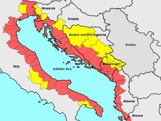 Mappa della Macroregione adriatico-ionica