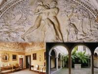 Palazzetto Baviera (interno): gli stucchi di Brandani e il cortile interno
