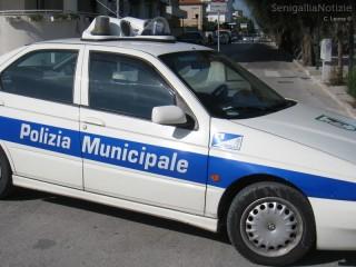 auto della Polizia Municipale a Senigallia