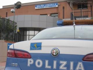 La sede della Polizia Stradale, 113, auto