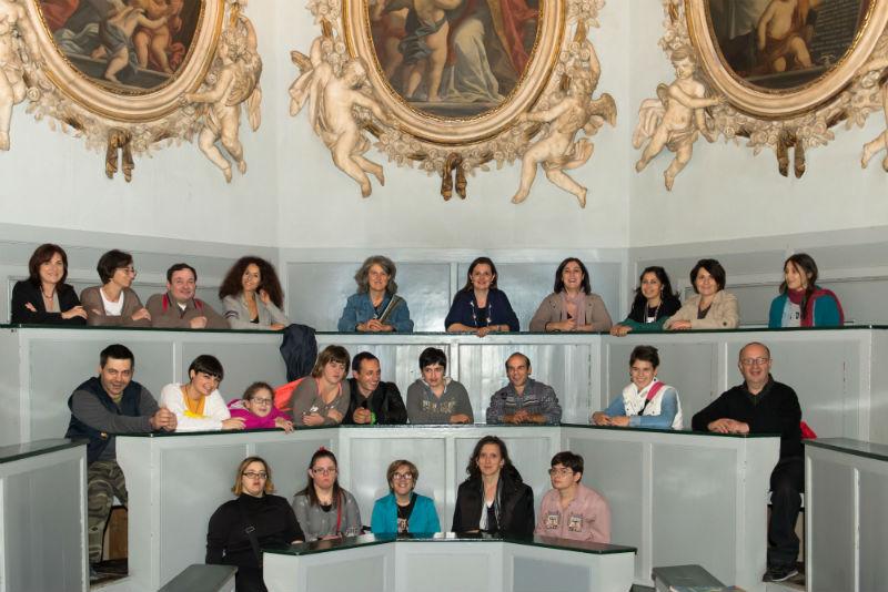 Il Centro L'Aquilone di Mondavio nel corso della visita all'Università di Macerata