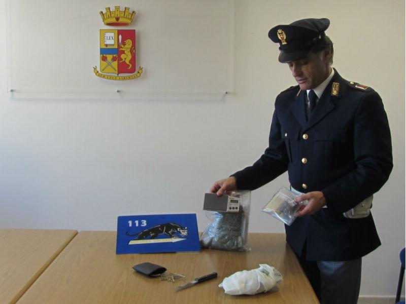 La droga sequestrata a Senigallia da parte della Polizia (7 novembre 2013)