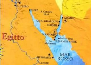 Sharm El Sheikh, località turistica egiziana, sul Mar Rosso