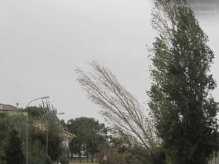 Senigallia spazzata da un forte vento