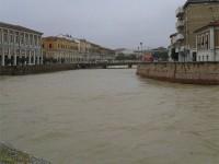Maltempo a Senigallia: fiume Misa ingrossato