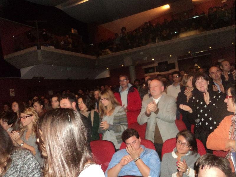 Cinema Gabbiano pieno per l'incontro con Maria Falcone