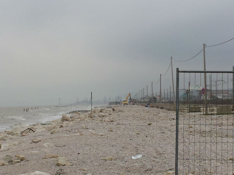 Il tratto di spiaggia tra Marzocca e Marina di Montemarciano