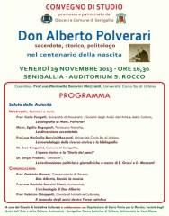 Programma del convegno in ricordo di Don Polverari