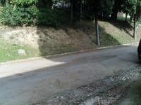 Strada risistemata nel cimitero di Senigallia