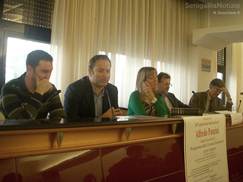Presentazione della Giornata Panziniana a Senigallia: da sx, Chiappetti, Maddamma, Bitti, D'Emilio e Nardini
