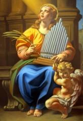 Il quadro di Santa Cecilia nella Chiesa di Scapezzano
