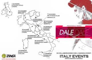 """La locandina della tournée """"Dale Dale"""" di Francesca Maria in Italia e a Londra"""