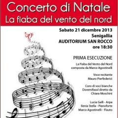 Manifesto del concerto di Natale 2013 della scuola di musica Padovano