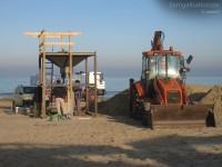 Difesa costiera: sacchi in geo tessuto per trattenere la sabbia