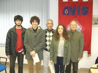 Studenti premiati dall'Avis Senigallia