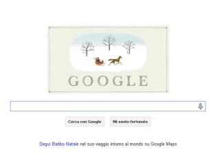 Doodle di auguri di Google per il Natale 2013
