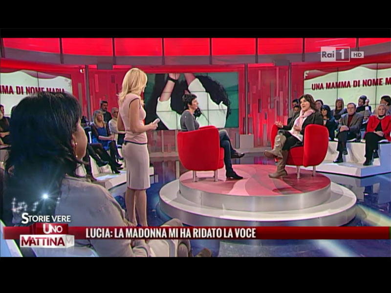 Lucia Spadoni di Ostra Vetere ospite a Unomattina Storie Vere