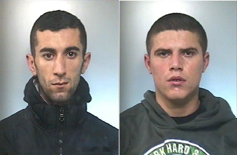 Gli arrestati: Ardit Nuhu e Denis Lieshai