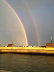 Doppio arcobaleno su Senigallia - Foto da Facebook