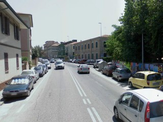 L'incrocio tra via Flaminia e via Costantini a Palombina di Ancona