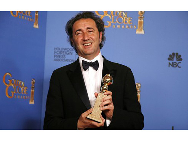 """Paolo Sorrentino ha vinto il Golden Globe per il miglior film straniero con """"La grande bellezza"""""""