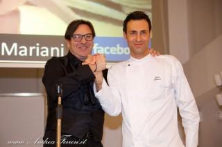 Mauro Mario Mariani e Luca Santini dell'Associazione Provinciale Cuochi Ancona. Foto di Andrea Ferreri