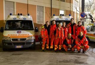 L'equipaggio del 118 a Senigallia in servizio la notte di Capodanno