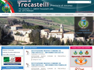 home page www.trecastelli.an.it