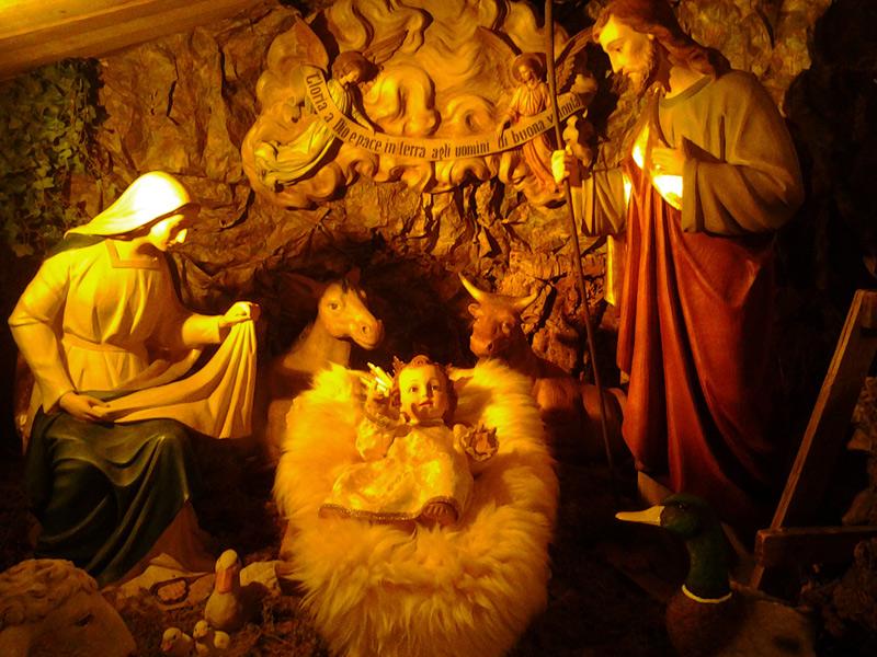 Il presepe alla chiesa della Croce di Senigallia