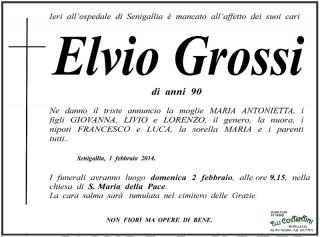 Manifesto funebre per Elvio Grossi